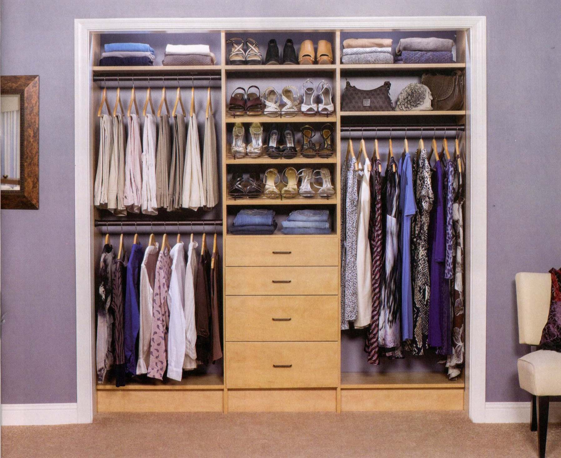 Options Such As Placing Hanging Rods On The Side Walls Of The Closets And  Adding Slide Out Baskets Can Create More Useable Space. Our Adjustable  Shelves And ...
